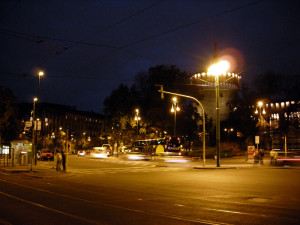 Castello Sforzesco de noche