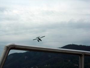 Hidroaviones sobrevolando el Lago di Como
