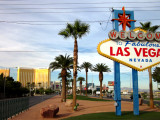 Cartel de bienvenida en Las Vegas