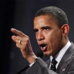 Obama ofreciendo un discurso