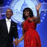 Obama y su esposa Michelle en una cena de gala