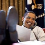 Obama al teléfono